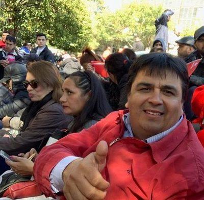 Debía sesionar en Franco, pero prefirió ir a movilización a favor de Mario Abdo