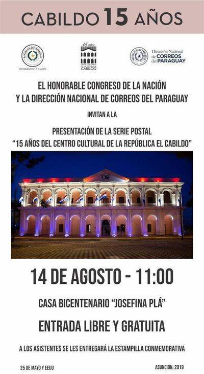 Lanzarán mañana estampillas conmemorativas por los 15 años del Cabildo