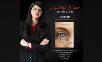 "Escritora franqueña presenta libro ""Diamante, caminos que se cruzan"""