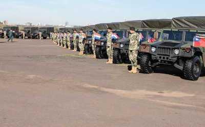 Fuerzas Armadas recibe vehículos tácticos y helicópteros por parte de Taiwán