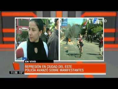 Represión en Ciudad del Este. La Policía avanzó sobre manifestantes