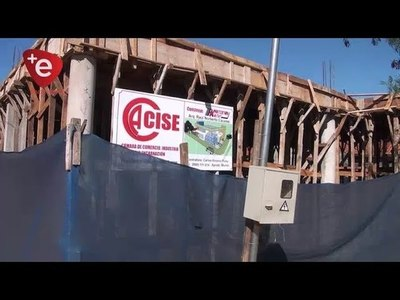 CON APORTE MUNICIPAL, REFUERZAN CONSTRUCCIÓN DE FUTURA SEDE DE CÁMARA DE COMERCIO