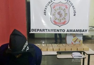 Detienen a brasileño con más de 20 kilos de cocaína
