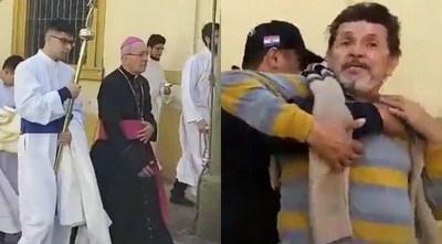 Fiscalía liberó a los dos hombres presos por gritarle al arzobispo de Asunción