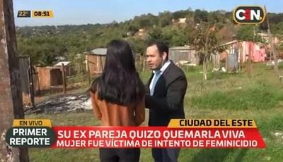 Mujer denuncia a su expareja por intentar quemarla viva