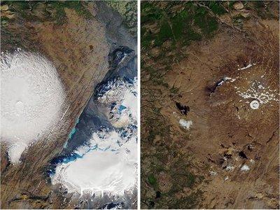 Conmemoran la muerte del primer glaciar a causa del cambio climático