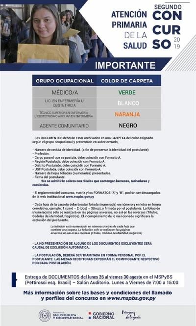 Salud Pública lanza nuevo concurso masivo para cubrir 614 puestos