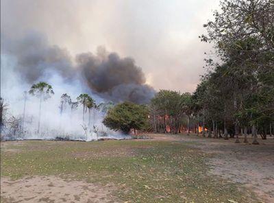 Para la SEN, incendio ya no amenaza a Bahía Negra
