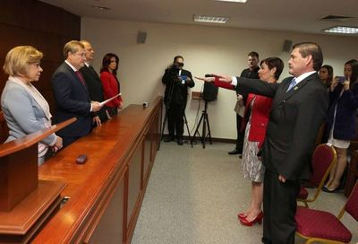 Ministros de la Corte tomaron juramento a magistrados