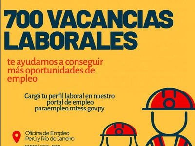 Ofrecen 700 empleos en el sector privado