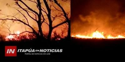 INCENDIO DE PASTIZAL MOVILIZÓ VARIAS UNIDADES DE BOMBEROS EN SAN JUAN DEL PNA.