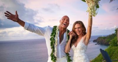 """HOY / """"La Roca"""" Johnson y Lauren   Hashian se casan """"ante"""" 150   millones de seguidores"""