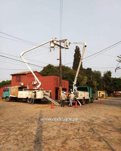 Ande trabajó para dar servicio eléctrico más confiable a unos 3.000 usuarios