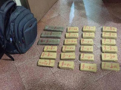 Dos menores brasileñas detenidas con 18 kilos de marihuana en Pedro Juan