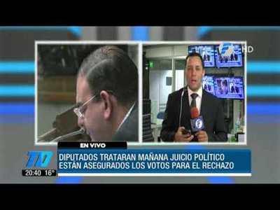 Diputados tratará mañana pedido de juicio político