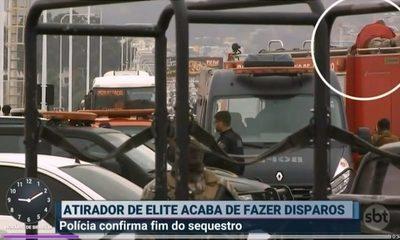 Secuestrador de bus en Rio de Janeiro es abatido