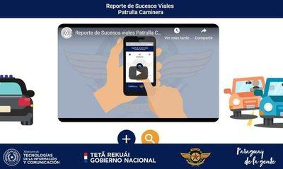 Ciudadanos pueden reportar sucesos viales a la Patrulla Caminera