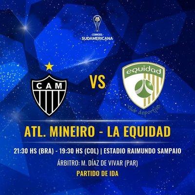Copa Sudamericana: Terna paraguaya para Mineiro