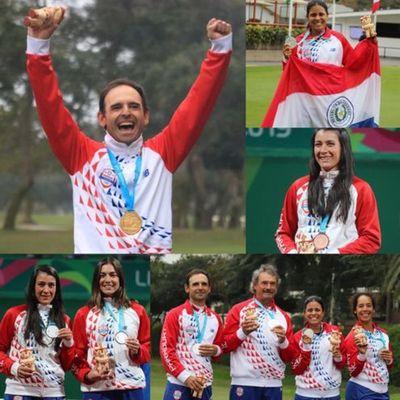 Con la tricolor en alto, atletas guaraníes ganan medallas doradas