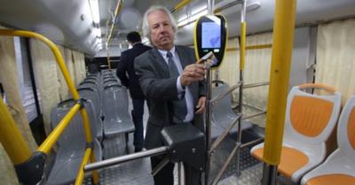 El billetaje  electrónico  en 400 buses