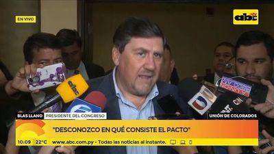 Blas Llano habló sobre juramento de HC Y Nicanor