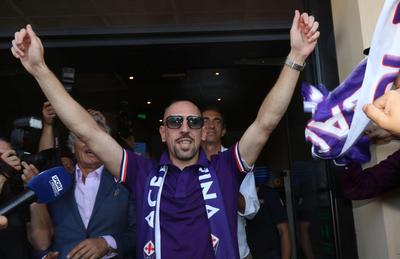 Franck Ribery es fichaje estrella de la Fiorentina
