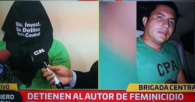 Detienen a autor confeso de feminicidio en Ñemby