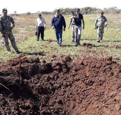 Detonan pista clandestina narco en Ñeembucú