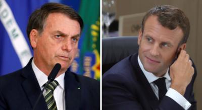 Macron y Bolsonaro se enfrentan por los incendios en la Amazonía