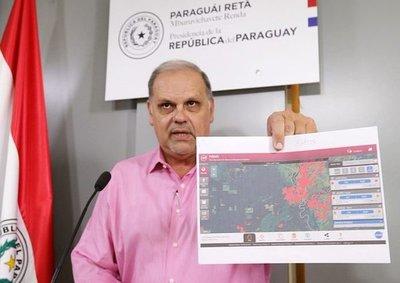 Ministro Roa confirma eliminación de focos de incendios en Alto Paraguay