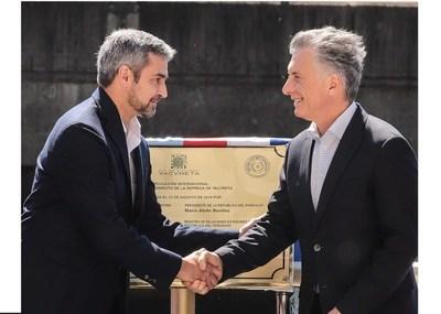 Abdo y Macri inauguraron nuevo paso fronterizo; facilitará el comercio y el intercambio cultural, afirman