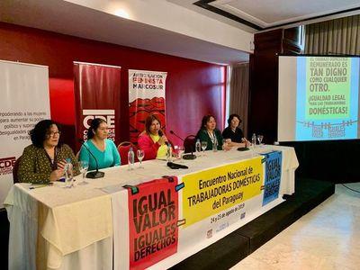 Continúa encuentro nacional de trabajadoras domésticas