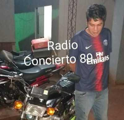 Detienen a hombre y recuperan moto robada en Minga Guazú