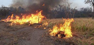 Vientos arrastran fuego a Paraguay desde Bolivia