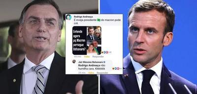 """Bolsonaro trata de """"vieja"""" y discrimina a la esposa de Macron"""