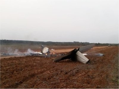 Fiscalía investiga vínculos entre aeronave incinerada y el narcotráfico
