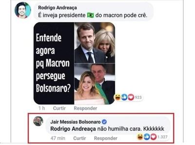 Bolsonaro se burla de la esposa de Macron y agudiza polémica entre Brasil y Francia