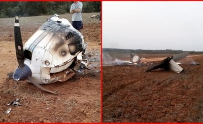 Incendian avioneta tras aterrizaje forzoso en San Cristóbal