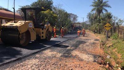 Asfaltan nuevo tramo entre Itauguá y Areguá