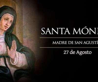 La iglesia celebra hoy la fiesta de Santa Mónica.