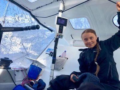 La joven activista por el clima Greta Thunberg llega a Nueva York