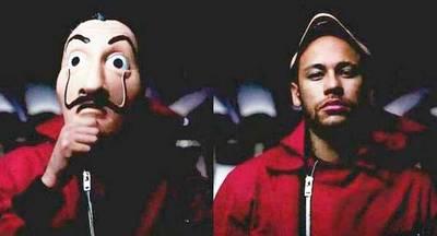 """Netflix liberó los capítulos que Neymar grabó para la """"La Casa de Papel"""""""
