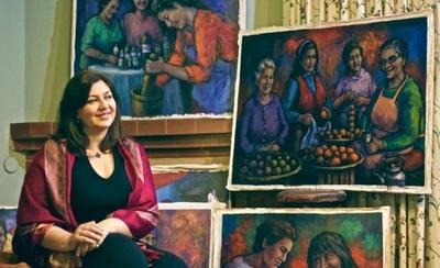 HOY / Alicia Guerra reivindica a las mujeres del Mercado Nº 4 a través de la pintura