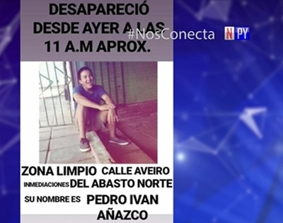 Familiares buscan desesperadamente a joven desaparecido