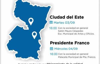Realizarán consulta pública sobre proyecto de Agua Potable y Saneamiento para Alto Paraná