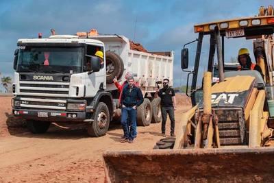 Presidente verifica avance de obras viales en el departamento de Caaguazú