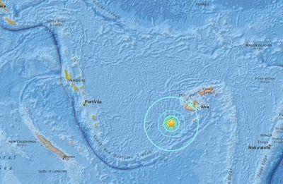 Fuerte terremoto en el Pacífico, entre las islas Fiyi y Tonga
