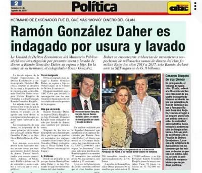 Abren investigación contra Ramón González, su esposa e hijo •