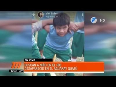 Niño de 11 años desaparecido en aguas del Aguaray Guazú