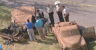 Su tumba era un auto Camaro